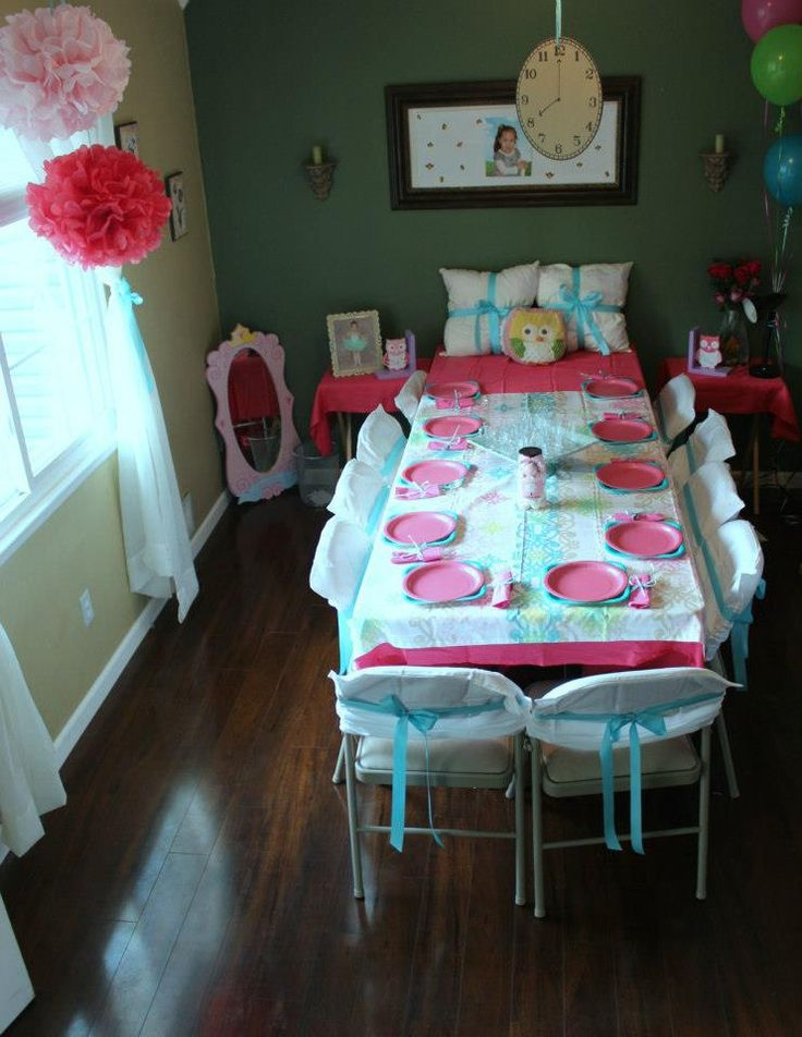 Night Owl Birthday Party Table