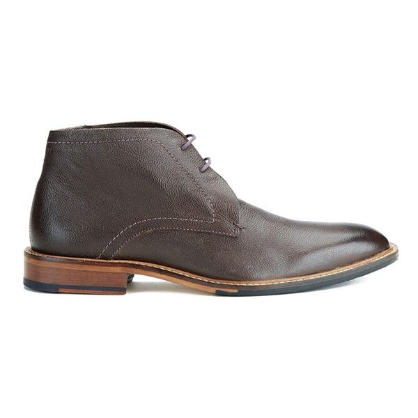 Ted Baker Men's Torsdi4 Leather Desert Boots ($155) ❤ liked on Polyvore featuring men's fashion, men's shoes, men's boots, brown, mens leather ankle boots, mens fur lined boots, mens leather shoes, mens brown shoes and mens fur lined ankle boots