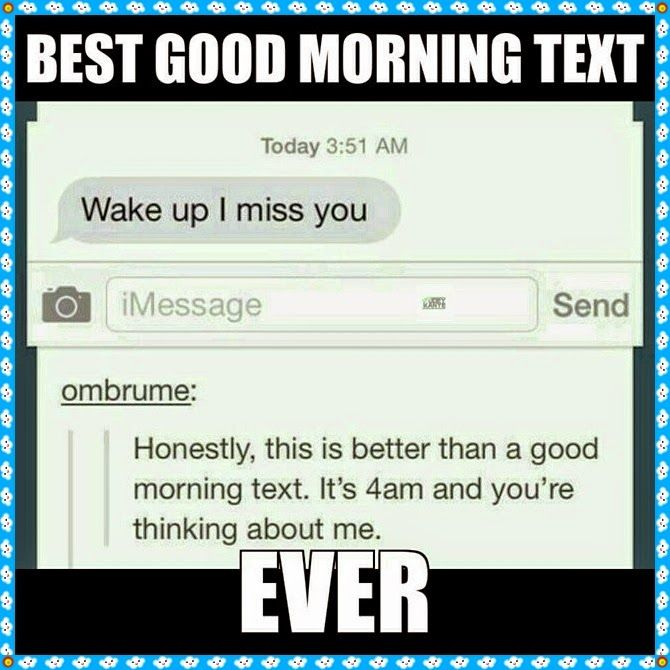 morning text message for girlfriend