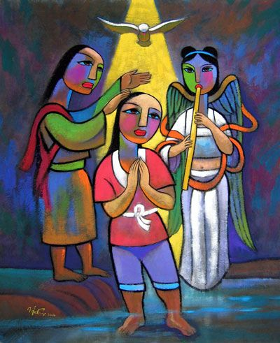"He Qi: ""The Baptism of Jesus"""