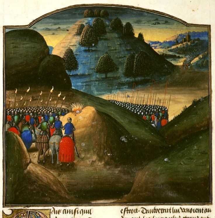 Alexander the Great Miniature of Alexander the Great and his army make a sacrifice on the night before the Battle of Issus in Vasco da Lucena's French translation of Rufus's Historia Alexandri magni.  Origin:	Netherlands, S. (Bruges)