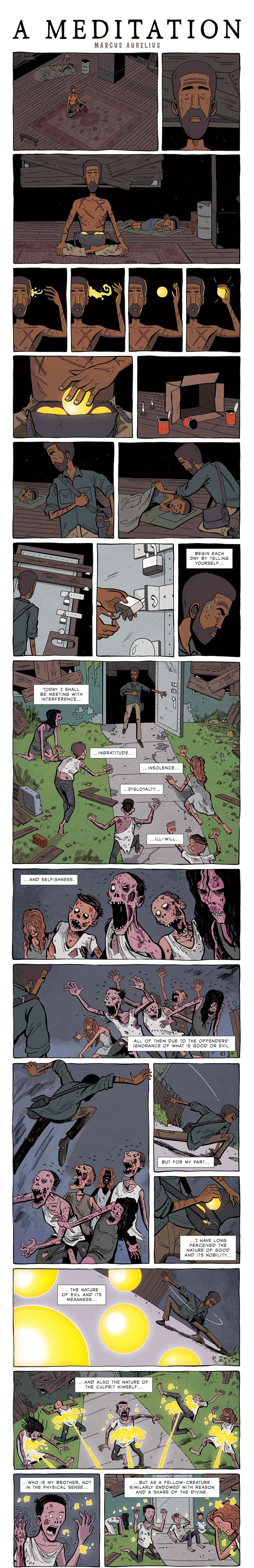 ZEN PENCILS » 176. MARCUS AURELIUS: A meditation - follow link for discussion on its origin.