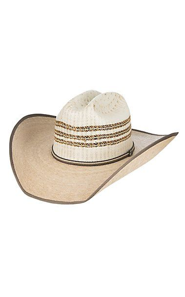 Justin Bent Rail Rawlins Two Tone Vented Crown Straw Cowboy Hat ... 9e879cb51842