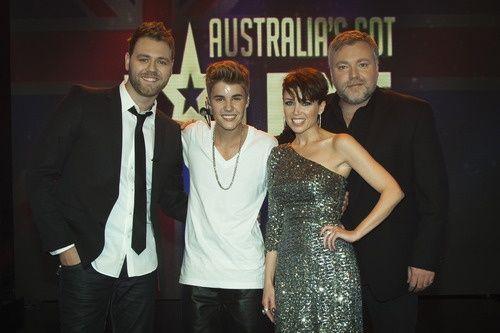 Brian, Justin Bieber, Dannii And Kyle