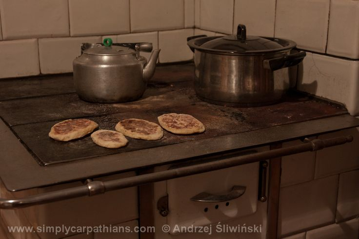 Moskole - potato pancakes made on a griddle, made of mashed potatoes, flower and water. www.simplycarpathians.com