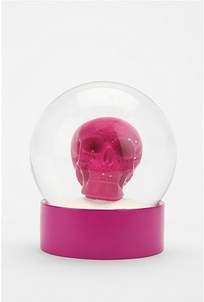 Pink!  Skull!  Snow Globe!!  How can this get better??