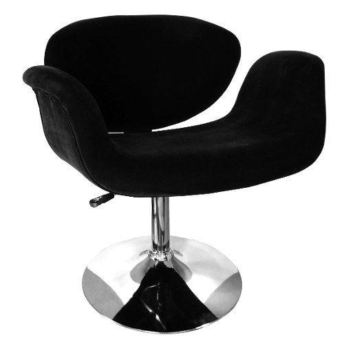 cadeira poltrona tulipa decorativa black sana design - nf