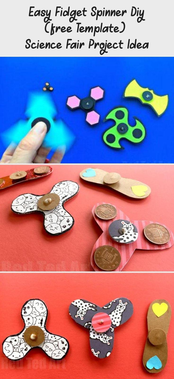 Easy fidget spinner diy free template science fair