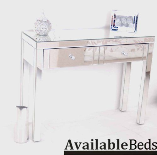 MADISON - Reflections 2 Drawer Mirrored Dressing Table Console, Venetian Style, 4 Legs by Availablebeds, http://www.amazon.co.uk/dp/B0077P5PHY/ref=cm_sw_r_pi_dp_qw74rb16F1QCY