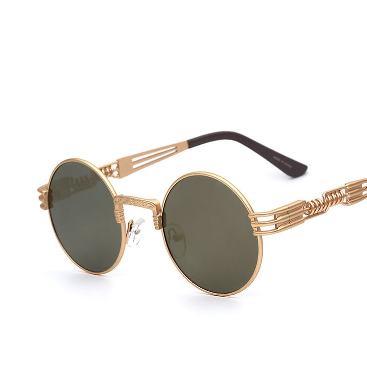 Luxury Metal Sunglasses Men Round Sunglass Steampunk Coating Glasses Vintage Retro Outdoor Lentes Oculos of Male Sun Great, huh? #shop #beauty #Woman's fashion #Products #Classes