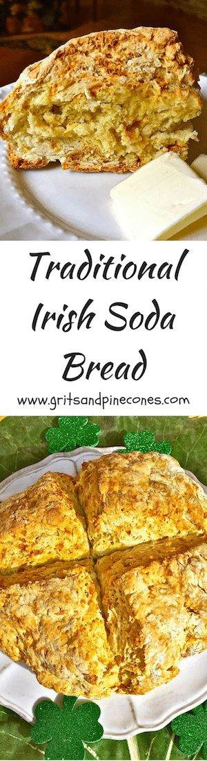 Celebrate St. Patrick's Day with Traditional Irish Soda Bread. It's so simple to make, you won't need to rely on the luck o' the Irish to pull it off.  via @http://www.pinterest.com/gritspinecones/