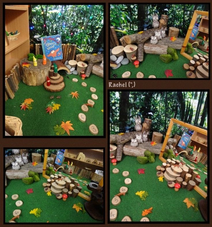 """Woodland small world play from Rachel ("""",)"""