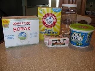 Homemade Powdered Laundry Detergent.