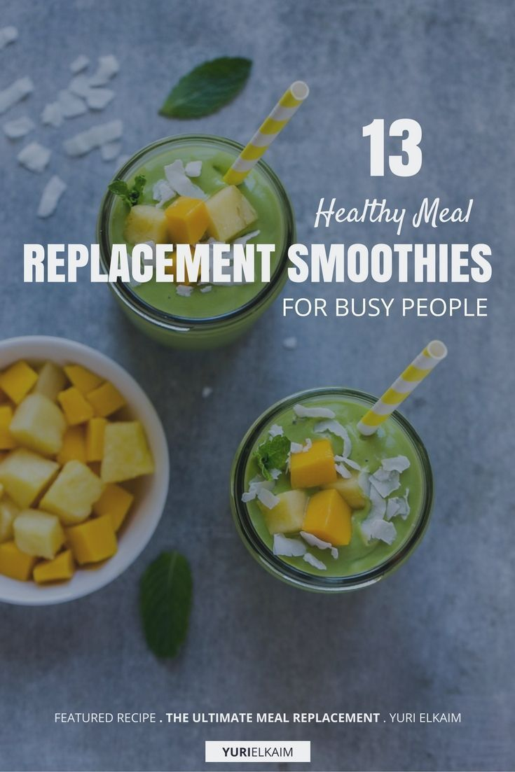 Smoothies, when made with the right ingredients, can be filling and, therefore, act as a stand-in for a real meal—an important option if you're someone who's busy but still wants to eat healthy. So with that in mind, here are 13 meal replacement smoothies that are good for you. | Yuri Elkaim