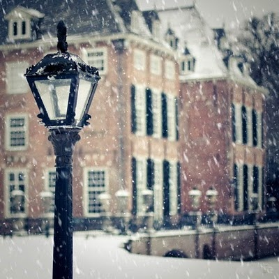 ...: Snow Fall, Lamps Posts, Dreams Houses, Brick, Inspiration Pictures, Lamppost, Antiques Lamps, Winter Houses, Lanterns
