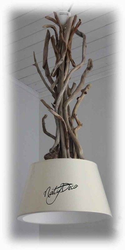 Les 25 meilleures id es de la cat gorie chandeliers sur for Lustre bois flotte