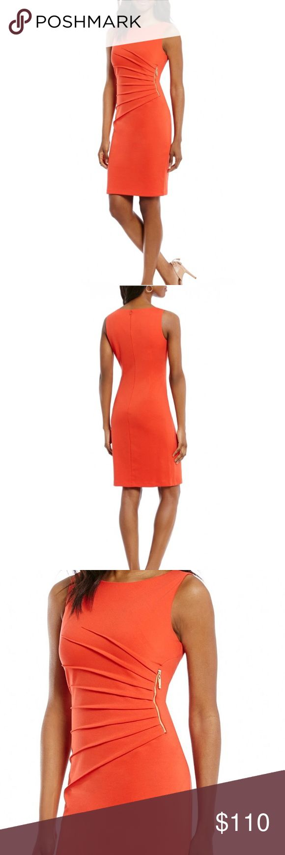 """Ivanka Trumpe ORANGE Dress NEW EASTER DRESSIvanka Trump ORANGE Dress NEW. The Color here is """"Strawberry"""" (Orange)❤️BRAND NEW. NEVER WORN MSRP $140. Absolutely stunning dress.  Has gold front side zipper-its nice.Soft material.  Pics do not capture how pretty it truly is. This color looks especially AMAZING w a TAN&tan heels---I will post pics of actual dress(es) upon req or asap Ty 4looking.  I'm looking for other sizes as well but hard to find. You are welcome to make an offer. I am…"""