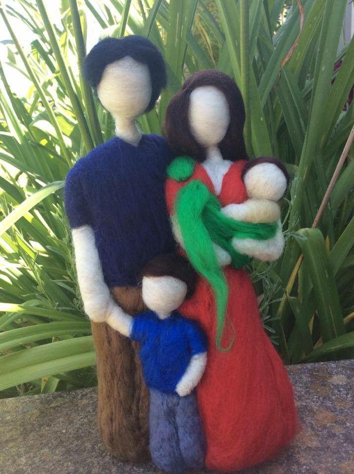 Muñecas fieltro familia