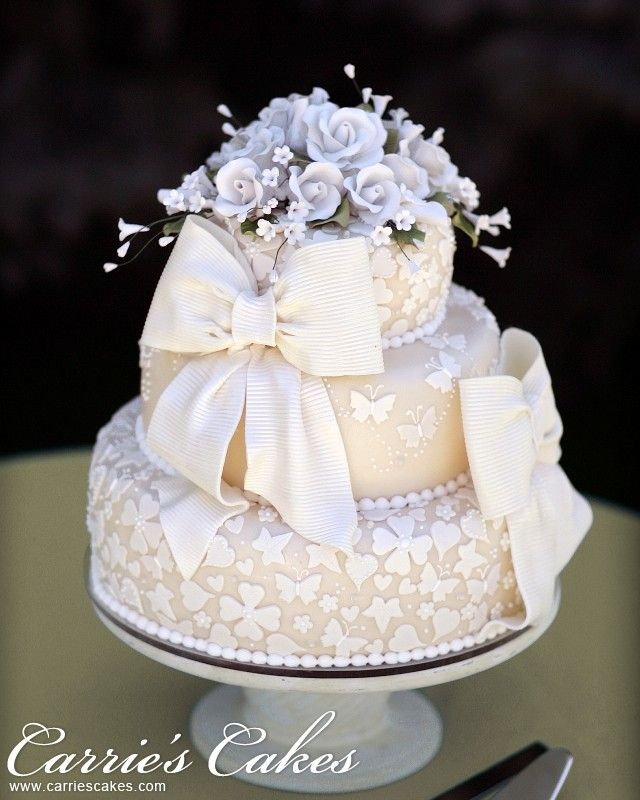 wedding cake with bow on top 17 best images about cake bow cake on big 26835