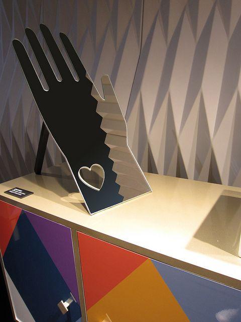 #guanto mirror, by @Moschino for #altreforme, #arlecchino collection at Salone del Mobile 2012 #interior #home #decor #homedecor #furniture #aluminium