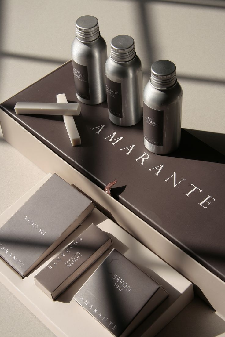 Unique Packaging Design on the Internet, Amarante Hotel Amenities #packagingdesign #packaging #design