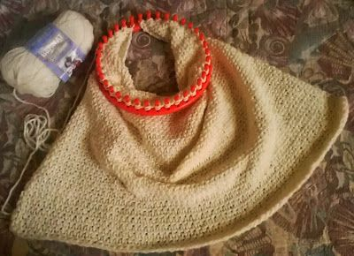 """Loom Lore: Brenda's Basic Baby Blanket - how to make a 34"""" baby blanket on a 36 peg knifty knitter by peg doubling.   Video Tutorial Included"""