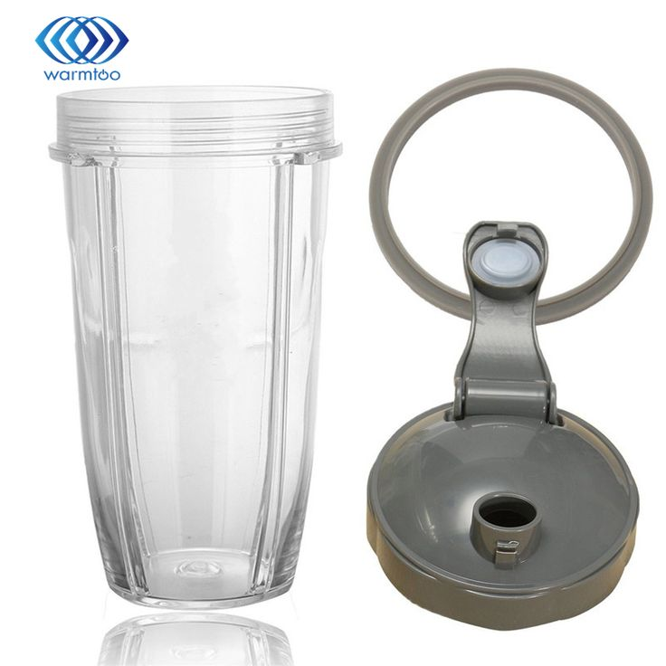 Durable Quality 32OZ Plastic Transparent Juice Blender Cup+Cover Lid+Sealing Ring Gasket For Nutribullet 600/900w