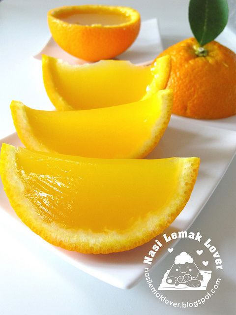 Agar-Agar Jello Orange Slices