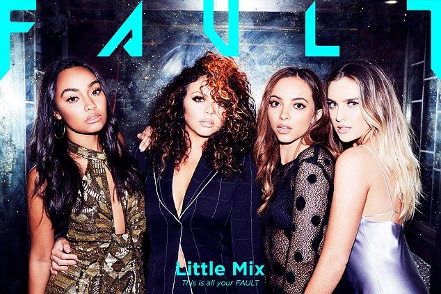 Not our fault: The Little Mix girls took part in a photo shoot for Fault magazine, which s...