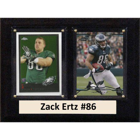 C & I Collectables NFL 6 inch x 8 inch Zack Ertz Philadelphia Eagles Two-Card Plaque