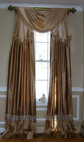Murphy Valance   Murphy Valance meets in the corner over a banquette  Murphy Valance uses two fabrics and trim    Stage Coach Valance   ...