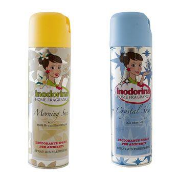Inodorina Deodorante Spray è specifico per ambienti frequentati da animali domestici. Neutralizza gli odori sgradevoli presenti nell'ambiente lasciando una gradevole profumazione di lunga durata. Inodorina Deodorante Spray è realizzato con aromi delicati e duraturi studiati appositamente per rispettare la sensibilità olfattiva del pet. Disponibile in 2 referenze: Crystal Sky al profumo di talco e Morning Sun al profumo di latte & vaniglia.