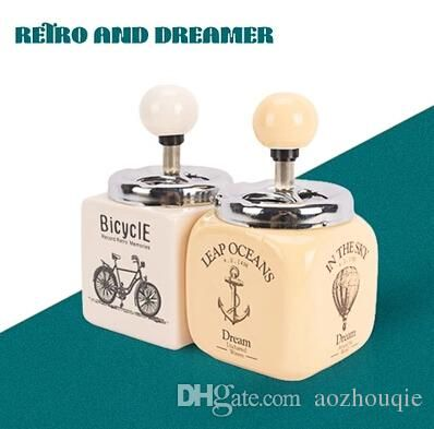 Creative Fashion Retro Dreamer Ceramic Ashtray Ashtray with European Style Stainless Steel Cover Decoration Personality Free Shupping Online with $17.36/Piece on Aozhouqie's Store | DHgate.com