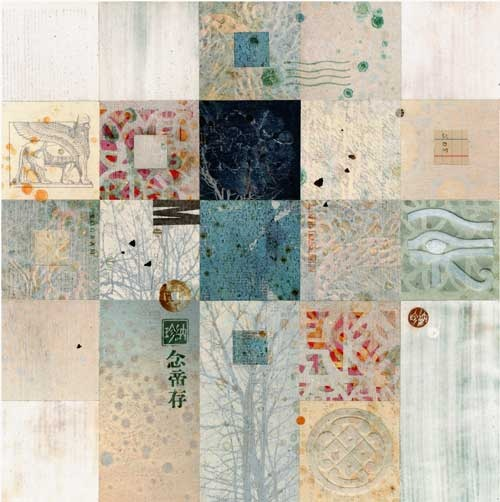 Monotype Collage - Shapes and Symbols #3, by Janet Jones