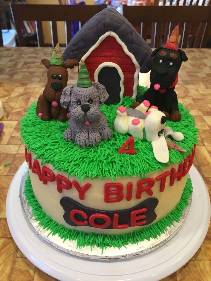 Dogs theme cake