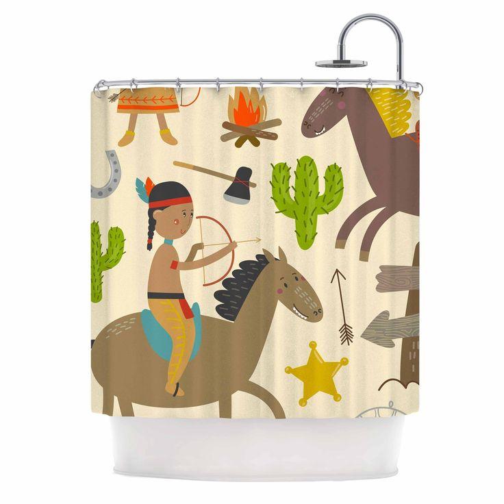 Kess InHouse Petit Griffin Tipi Brown Shower Curtain