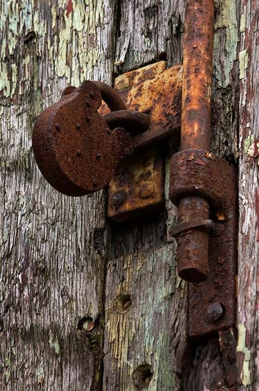 Beautiful rusty lock