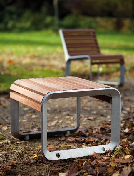 modern street & site furnishings - products - park benches - portiqoa
