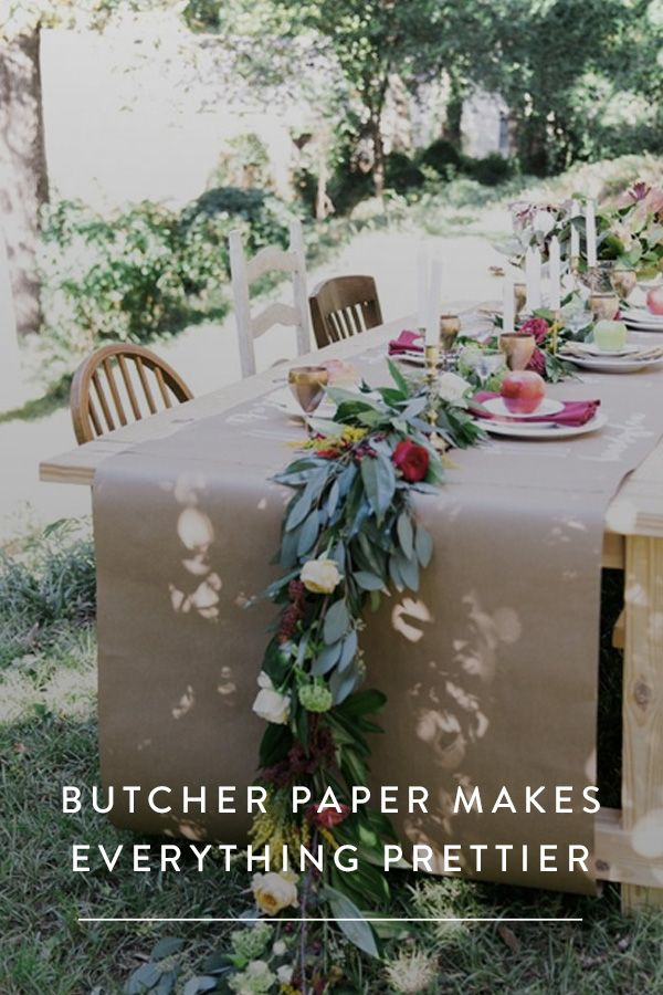 The $5 Way to Make Anything Prettier. You need to get your hands on butcher paper aka craft paper immediately and try these 10 cute ideas around your home.