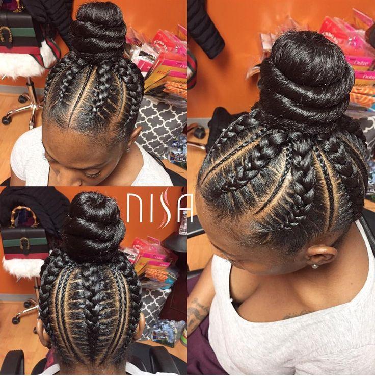 Cute bun @nisaraye  Read the article here - http://blackhairinformation.com/hairstyle-gallery/cute-bun-nisaraye/