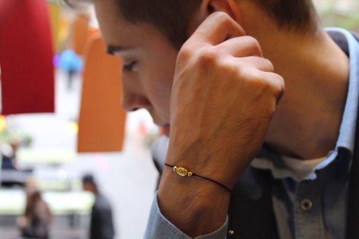 Handmade Men bracelet ! Love