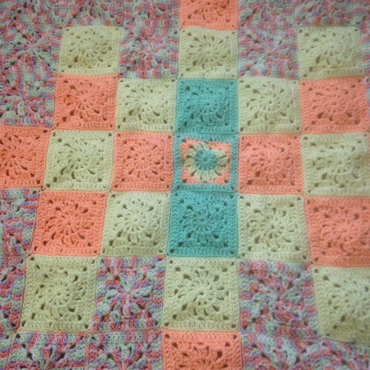 This is my Japanese Square Baby Blanket which measures about 72cms squared.