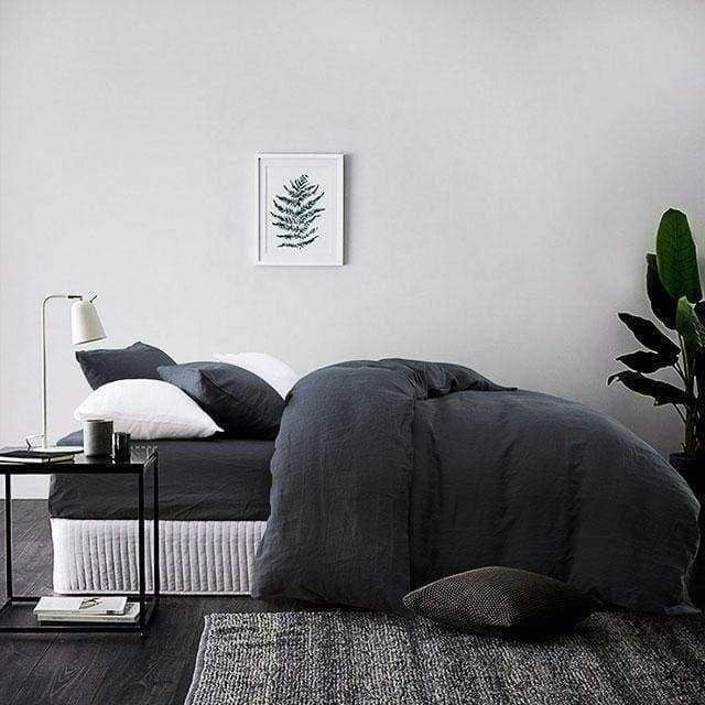 Belgian Linen Bed In A Bag 5 Piece Simple Duvet Cover Sheet Set In 14 Colors Simple Duvet Cover Simple Duvet Belgian Linen Bedding