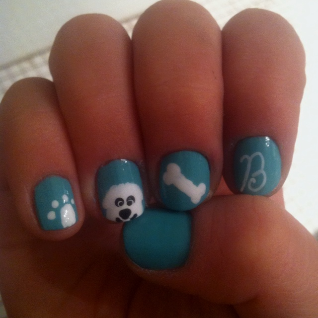 Dog Nails.: Art Dogs, Hair Nails And Beauty, Doggy Nail, Dog Naills, Hair Nails Makeup, Nail Ideas, Dog Nails, Nail Art, Beauty Nails Hair Makeup Ect