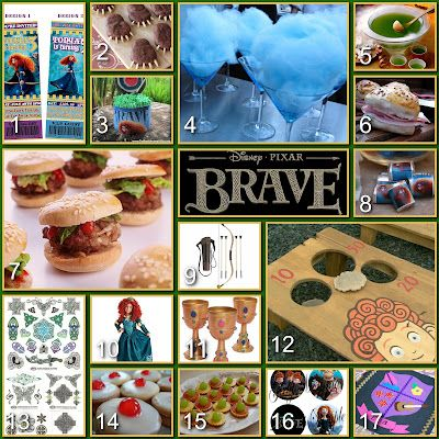 Disney Donna Kay: Disney Party Boards - Brave LOTS of ideas .... some you already have but maybe some new ones.