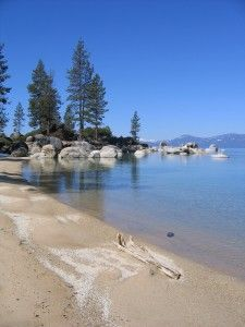 Lake Tahoe NV - Sand Harbor State Park: visitor center, picnicking, swimming, scuba diving, walking trail, nature trail, boating, boat launch
