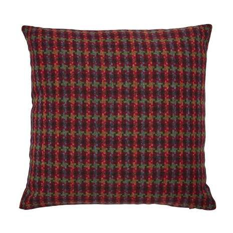 Houndstooth Multi Coloured Check Cushion | Dunelm