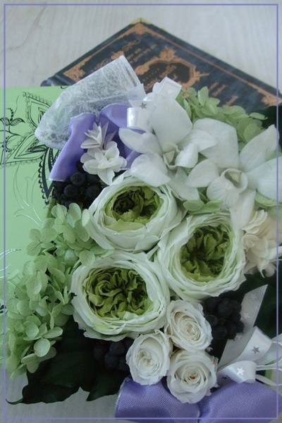 green rose and...
