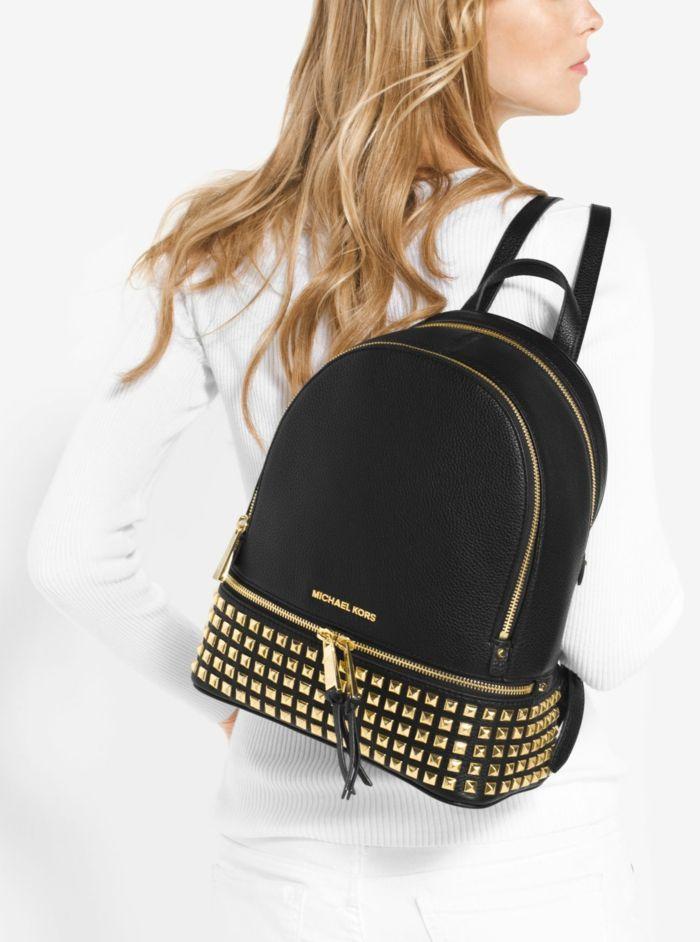 sac à dos femme tendance style élégant avec des éléments décoratifs dorés Michael Kors