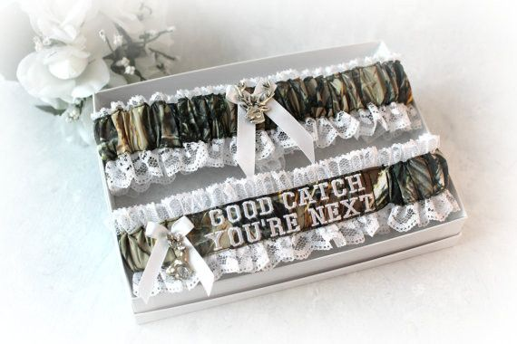 Camo Style Hunting Wedding Garter - Rustic Wedding Garter